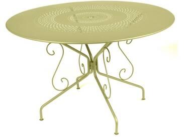 Table de jardin FERMOB ronde D.117cm acier tilleul MONTMARTRE