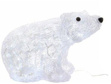 Déco lumineuse LED extérieur blanc en acrylique OURS