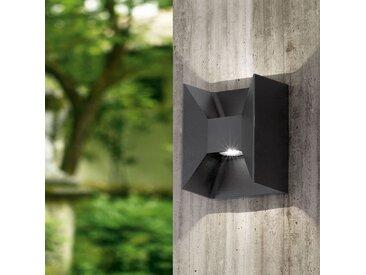 Applique extérieure LED gris en aluminium carrée MORINO