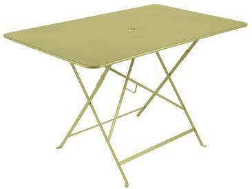 Table de jardin FERMOB rectangulaire pliante 117x77 cm acier laqué tilleul BISTRO