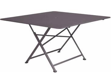 Table de jardin FERMOB carrée pliante 130x130 cm en acier prune CARGO