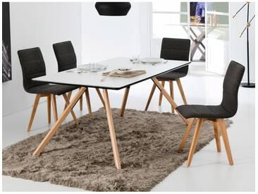 Table salle à manger scandinave en bois massif rectangulaire CASCAIS