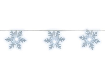 LED guirlande clignotante flocon de neige exterieur blanc froid 9,6m