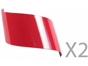 Applique murale design en métal rouge (Lot de 2) VIRA