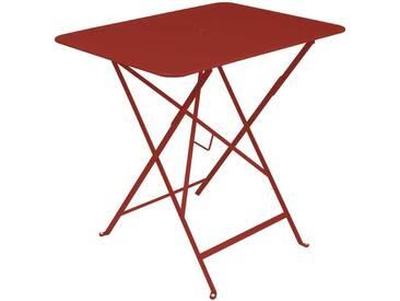 Table de jardin FERMOB rectangulaire pliante 77x57 cm acier laqué piment despelette BISTRO