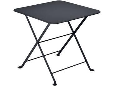 Table basse de jardin FERMOB carrée 50x50 noir carbone TOM POUCE