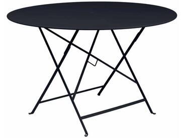 Table de jardin FERMOB ronde pliante D.117cm acier laqué carbone BISTRO