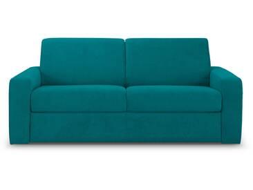Canapé convertible express en tissu bleu 140x190 EDUARDINO