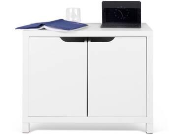 Meuble de rangement en bois blanc 2 tiroirs BASIC