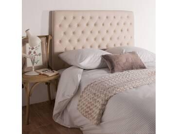 Tête de lit en tissu L140cm beige CUSTOMIZE
