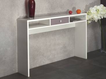 Table console design blanc avec rangements EOS
