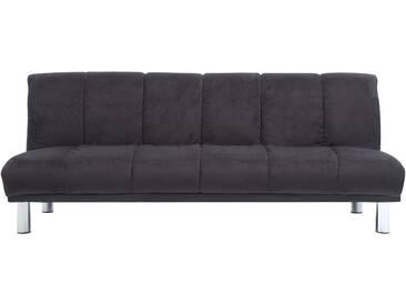 Canapé lit clic clac en microfibre noir MANDY