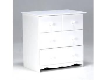 Commode en épicéa blanc 4 tiroirs BEAR