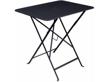 Table de jardin FERMOB rectangulaire pliante77x57 cm acier laqué carbone BISTRO