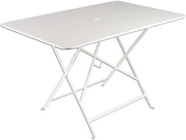 Table de jardin FERMOB rectangulaire pliante 117x77 cm acier laqué blanc BISTRO