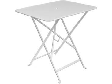 Table de jardin FERMOB rectangulaire pliante 77x57 cm acier laqué blanc BISTRO