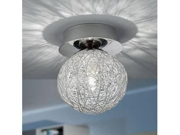 Plafonnier design sphère en métal chromé PRODO