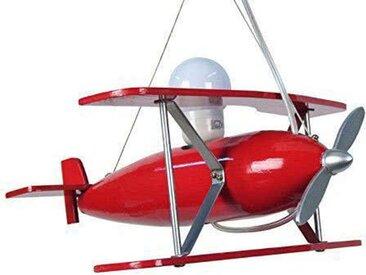 Suspension avion en bois rouge AVION