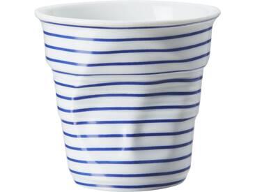 Tasse à cappuccino en porcelaine blanc et bleu FROISSES MARINIERE