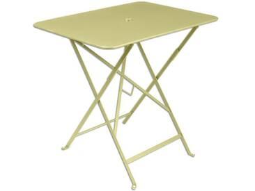 Table de jardin FERMOB rectangulaire pliante 77x57 cm acier laqué tilleul BISTRO