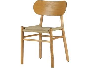 Chaise en bois assise rotin tressé (lot de 2) JOINYLY