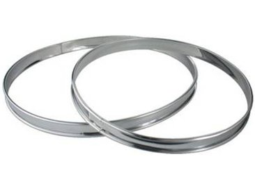 Essentielb Cercle à pâtisserie Essentielb de 2 cercles à tarte Inox 24 et 28 cm