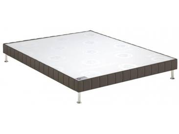 Sommier Bultex Confort ferme Taupe style cuir 160x190