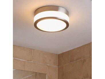 Plafonnier de salle de bain Flavi, nickel mat– LAMPENWELT.com