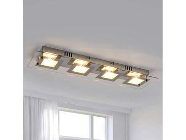 Plafonnier LED allongé Manja chromé– LAMPENWELT.com