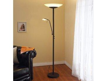 Lampadaire à LED Ragna av. liseuse couleur rouille– LAMPENWELT.com