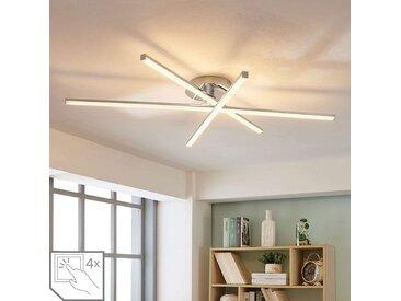 Plafonnier LED à 3 lampes Korona, variateur– LAMPENWELT.com