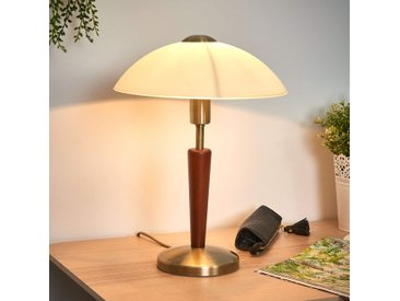 Elégante lampe à poser Salut, bruni, noisette