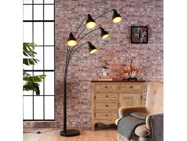 Lampadaire Lira à 5 lampes en noir et doré– LAMPENWELT.com