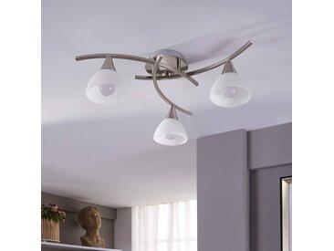 Della - plafonnier LED nickel mat, 3 l.– LAMPENWELT.com