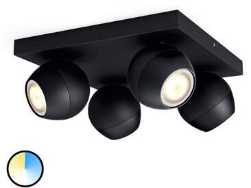 Spot LED noir Philips Hue Buckram White Ambiance