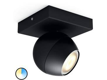 Spot LED à 1 lampe Philips Hue Buckram en noir