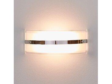 Applique murale de verre Lianda avec LED, chromée– LAMPENWELT.com