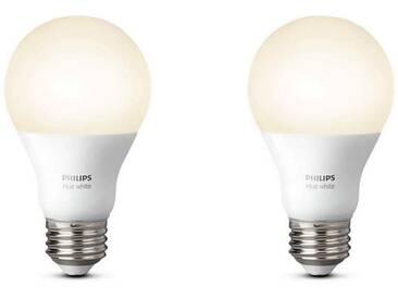 Set de 2 Philips Hue White E27 de 9,5 W