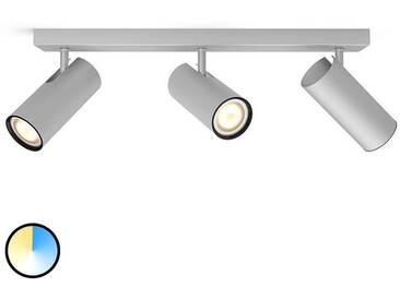 Spot LED Philips Hue Buratto à 3 lampes, aluminium