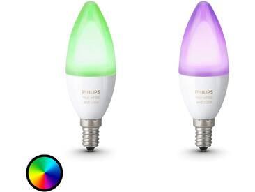 2 ampoules flamme Philips Hue RGBW E14 de 6,5W