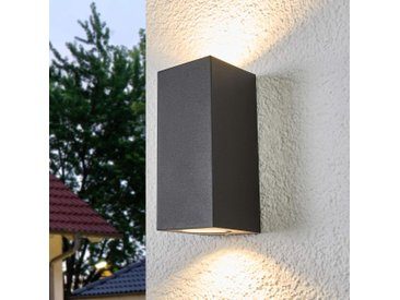 Applique extérieure Xava à 2 lampes, gris graphite– LAMPENWELT.com