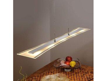 Suspension LED Runia plate en verre– LAMPENWELT.com