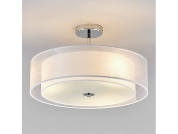 Plafonnier LED Pikka avec abat-jour blanc– LAMPENWELT.com