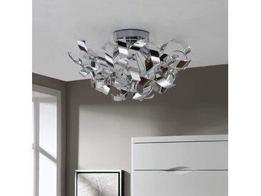 Plafonnier chromé décoratif Elviro– LAMPENWELT.com