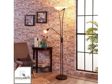Lampadaire LED Felicia, réglable, couleur rouille– LAMPENWELT.com