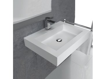 Lavabo suspendu en solid surface 60 cm - Bristol
