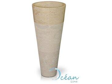Colonne, Vasque sur pied en marbre crème - Solo
