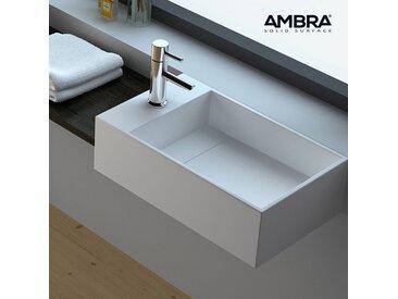 Vasque suspendue ou à poser, 50 cm en Solid surface - Manéa G