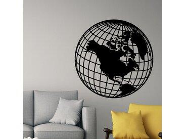 Sticker Design globe terrestre classique