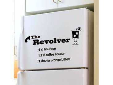 Sticker déco cocktail The Revolver